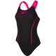 speedo Gala Logo Medalist Swimsuit Women pink/black